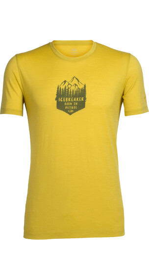 Icebreaker Tech Lite t-shirt Heren geel